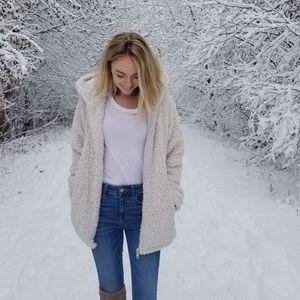 White Sherpa Jacket